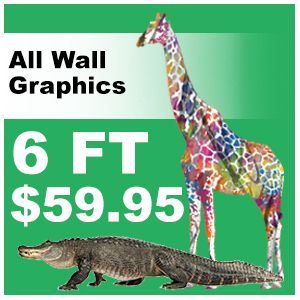 6ft Animal decal pricing
