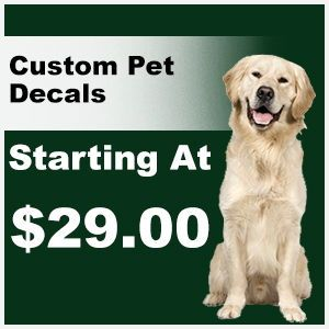 Custom Pet decal pricing