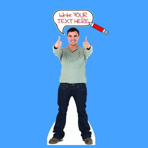 Custom Cardboard Cutout Speech Bubble