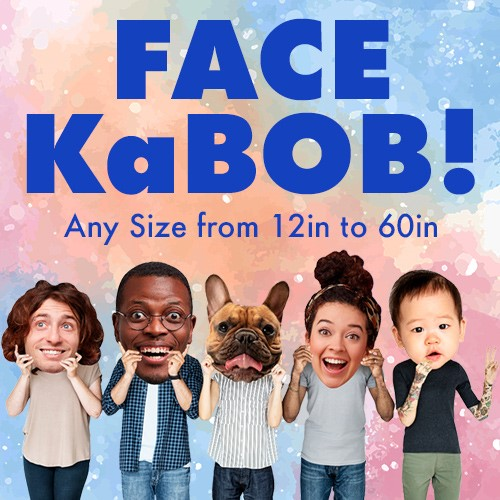 Make Your own cardboard big head - $15.99