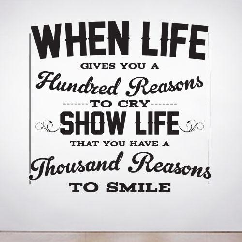 Life  Quote Decals